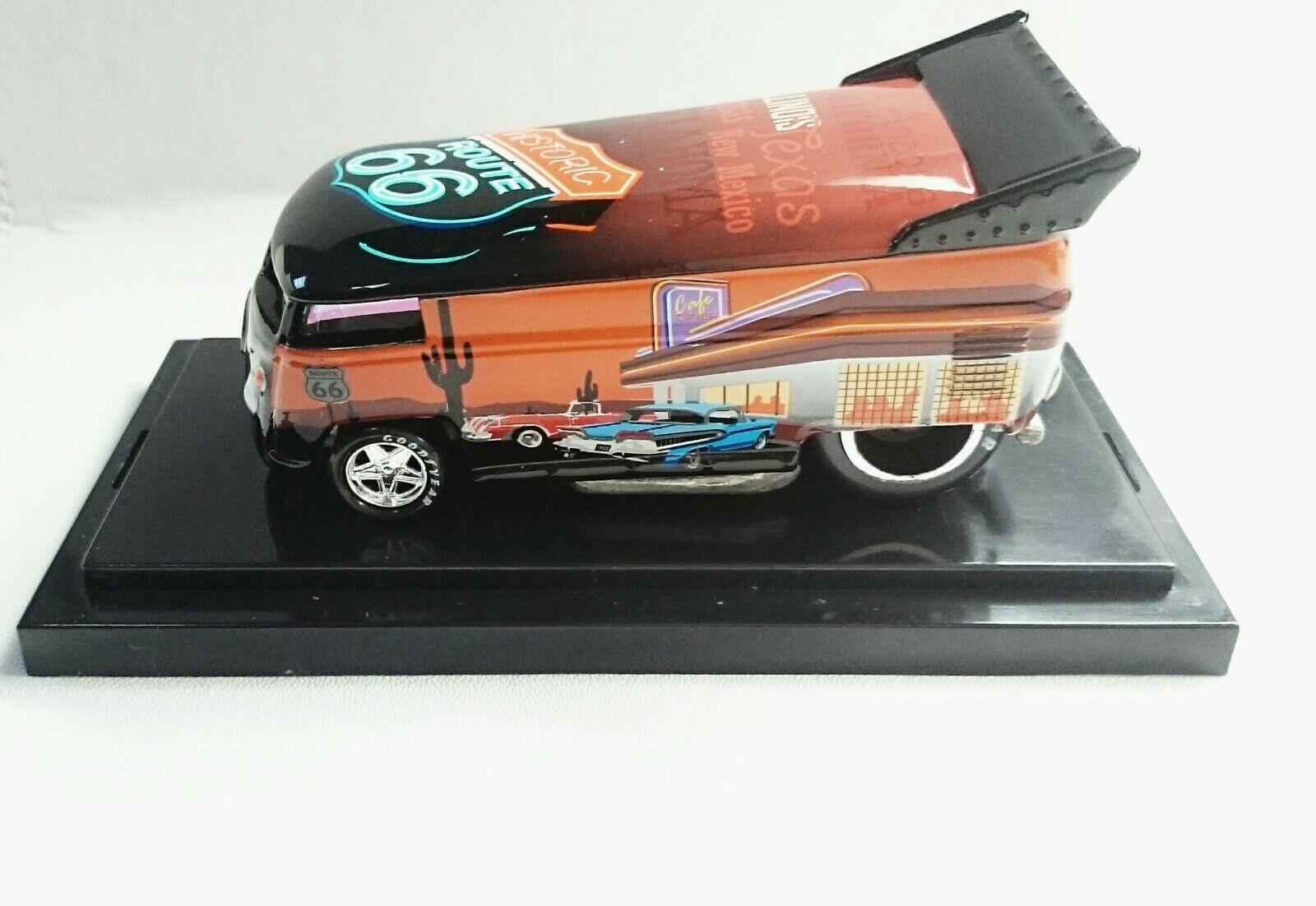 VW DRAG BUS ROUTE 66 RARE MODEL 268 1300 HOT WHEELS LIBERTY PROMOTION