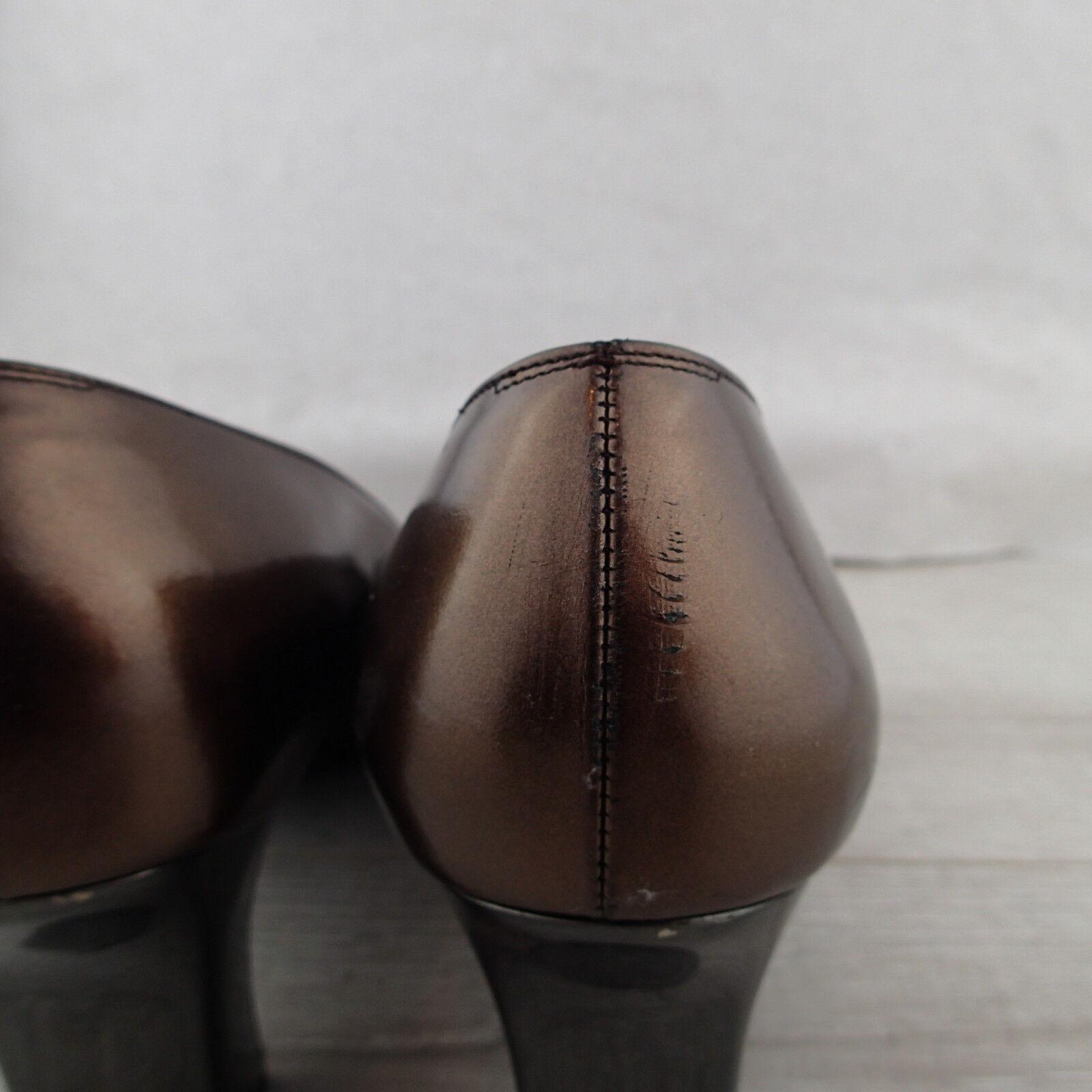 Salvatore ferragamo schuhe schuhe 9.5 B bronze metallic pumps classic classic classic a4 2c3096