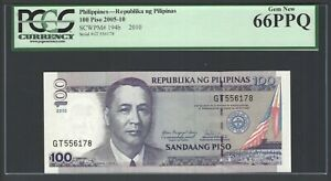 Philippines 100 Piso 2010 P194b Uncirculated Graded 66