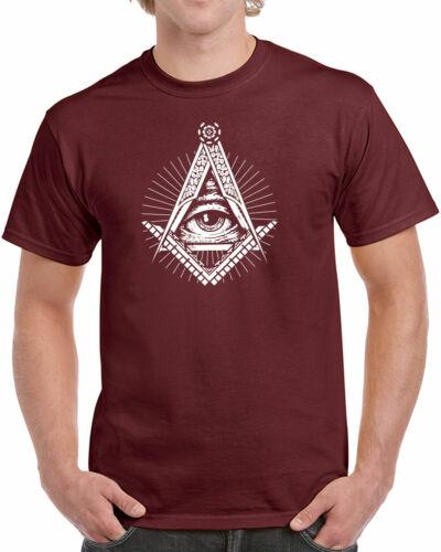 226 Illuminati mens T-shirt secret society free mason elites All Sizes//Colors