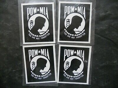 POW MIA Decal Sticker SET Missing in Action Soldier Memorial Vinyl EMV