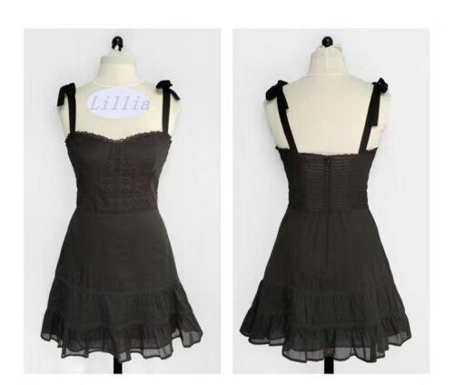 AUTH Reformation Maeve Dress Black US 0-12 02DH