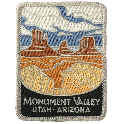 "Iron on Colorado Plateau Monument Valley Patch Arizona Utah Navajo 3/"""
