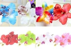 LADIES-WOMENS-GIRLS-ORCHID-FLOWER-BRIGHT-SUMMER-HOLIDAY-FESTIVAL-HAIR-CLIP-UK