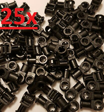 40x Lego Technic 6536 Achs u Pin Verbinder schwarz 2L senkrecht Technik Winkel