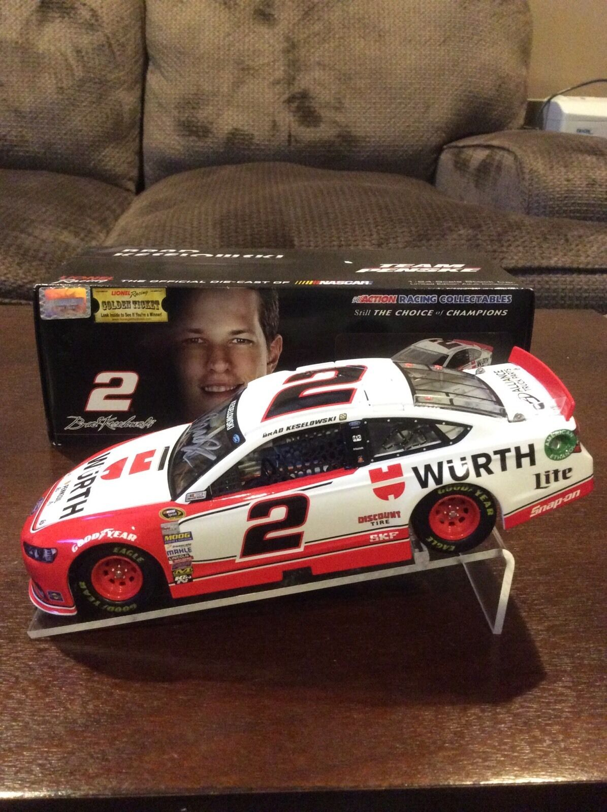 2014 BRAD KESELOWSKI WURTH HAND TOOLS AUTOGRAPHED SIGNED 1 24 ACTION
