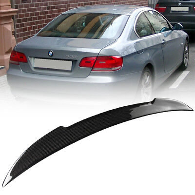 Ready To Ship 2007-2013 Real Carbon BMW E92 2D M4 Type Rear Trunk Spoiler 328xi