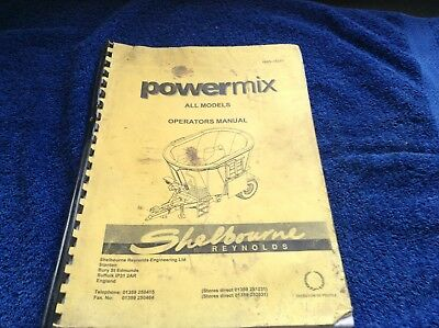 Shelbourne Reynolds Powermix Operators Manual Luxuriant In Design Other Tractor Publications Business, Office & Industrial