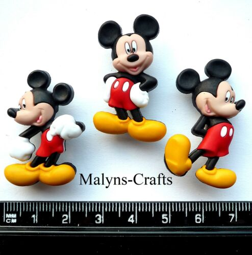 Disney MICKEY MOUSE Craft Buttons 1ST CLASS POST Themed Minnie DRESS IT UP Mice