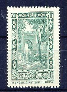 Topical Stamps Generous Timbre Algerie Neuf N° 107 ** Cimetiere Musulman A Tlemcen Harmonious Colors