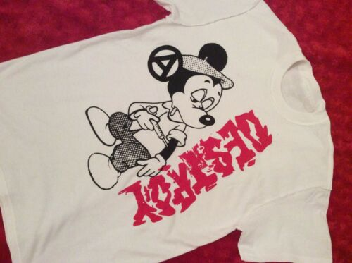 Seditionaries MICKEY MOUSE DESTROY Drug Fix Shirt Sex Pistols ADULT all sizes