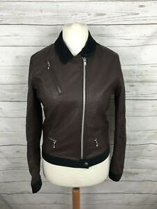 Jun By Medium Faux Takahashi Uk10 Womens Uniqlo Jacket Undercover 12 Leather xwEtW46