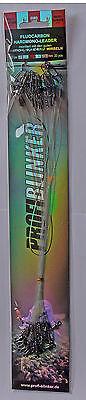 Hardmono Fluocarbon - Vorfach, 0,6er , 20er Karte Raubfischvorfach Profi Blinker