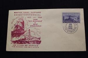 Navale-Cover-1950-Nave-Annullo-Postale-150TH-Boston-Yard-Uss-Bailey-DD-713