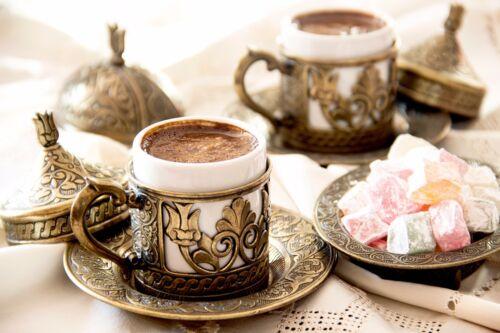 Turkish Handmade Copper Coffee Pot Ibrik Kettle Jazzva Briki Cezve 100g Coffee