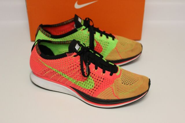 timeless design 2b95f d2995 NIKE FLYKNIT RACER HYPER PUNCH ELECTRIC GREEN BLACK MENS SIZE 11 WITH BOX