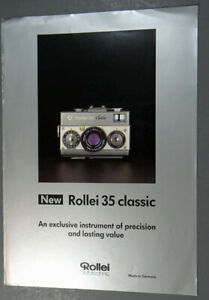 NEW ROLLEI 35 CLASSIC SALES BROCHURE