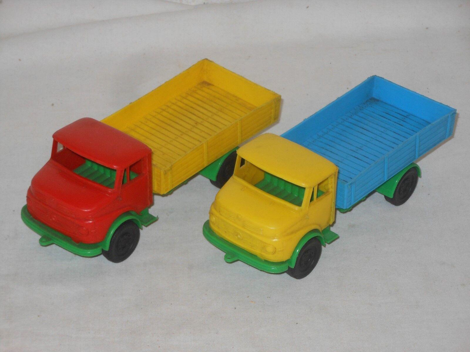 2 Pieces Mercedes Benz Short Hood - JA 16 cm - Vintage Toy - West Germany - 8