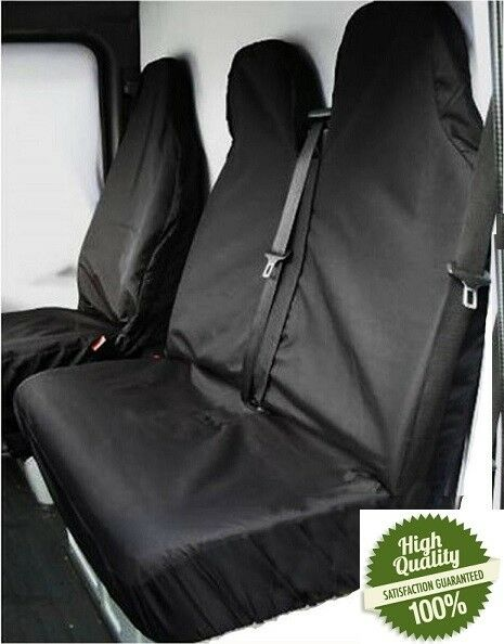 For FORD TRANSIT VAN SEAT COVERS 2000 TO 2017 LWB MWB SWB 100% WATERPROOF H-DUTY