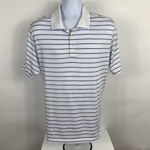 Adidas CLIMACOOL Polo Shirt Men's Size Large Striped Short Sleeve Golf Rugby
