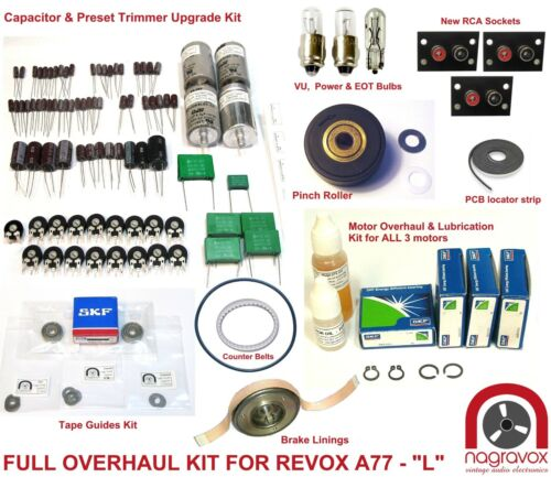 FULL MONTY Revox A77 full overhaul kit electronics and mechanical