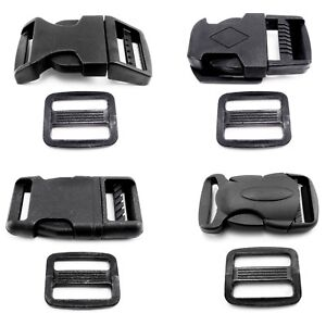 Side-Release-Buckle-Clips-and-Sliders-for-20-mm-Webbing-Delrin-Plastic