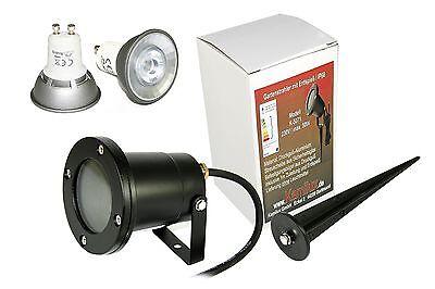 7W Power LED Bodenstrahler Piso IP68 wasserdicht Gartenspot Erdspieß 230V