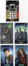Doctor Who the Card Game 2009 c7e - 5 Art Cards; Daleks, Amy, 11th Doctor etc