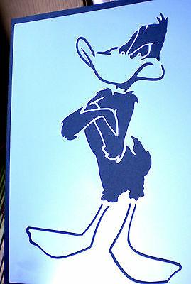 high detail airbrush stencil daffy duck FREE UK POSTAGE