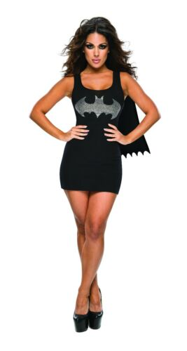 Batgirl Dress with Rhinestone Logo /& Cape for Adults size S /& M New by Rubies