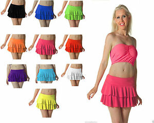 New Ladies Neon Dance Club Fancy Stylish Women Mini Short Summer Casual Skrrt