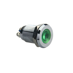 12mm-1-2-034-Green-12V-LED-Metal-Indicator-Pilot-Dash-Light-Lamp