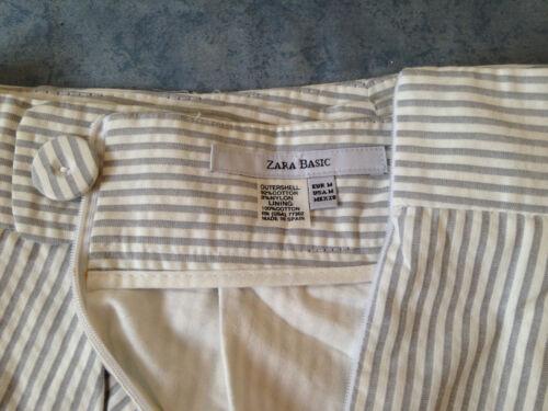 a4112c32111387 Taille neuve blanche M sans en Zara coton Jupe grise étiquettes ...