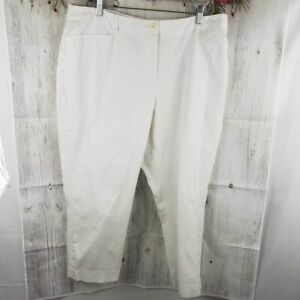 Lane-Bryant-Women-039-s-White-capri-pants-Plus-Size-18