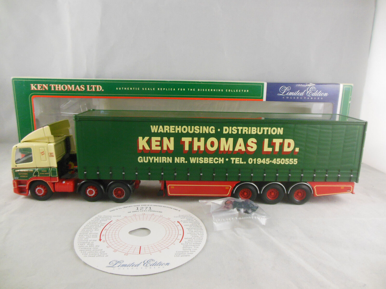 CORGI 75406 LEYLAND DAF Curtainside Kenny Thomas LTD guyhirn LTD ED.