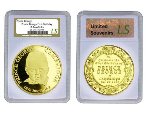 2014 Prince George 1st Birthday 1oz Gold Proof like Clad Limited Souvenirs Slab