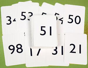 pack of number cards 0 100 ref 00809 ebay