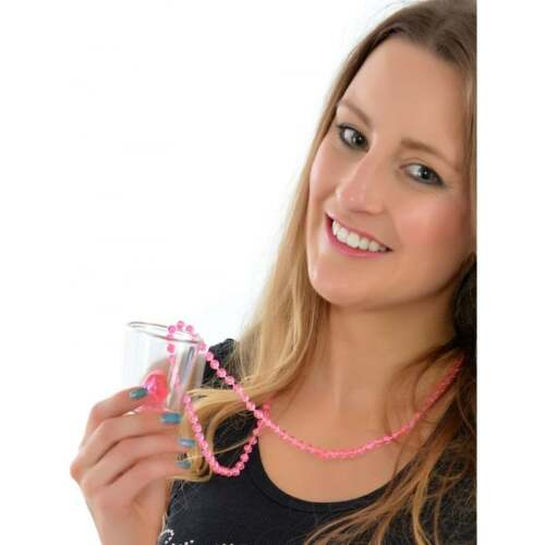 20 x Hen Party Willy Shot Glass Glasses /& Pink Necklace Hen Party Accessory QR14