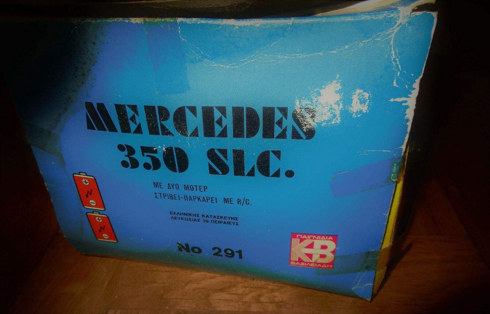 AMAZING VINTAGE GREEK RARE MERCEDES 350 SLC B B B O LITHO BOX BY KB 70s MIB 89071a