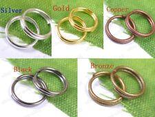 4MM,5MM,6MM,7MM,8MM,10MM,12MM,Double Loop Split Jump Rings Jewelry Make Findings