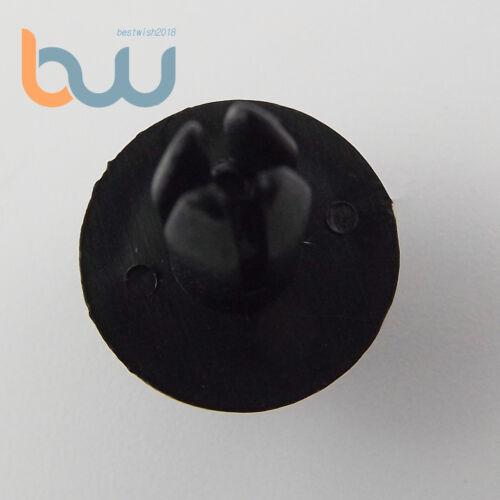 100 Pcs Black Auto Car Door Fender 6mm Hole Push Plastic Rivets Retainer Clips