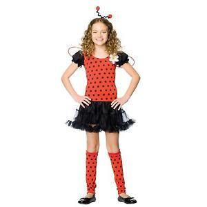 Girls-034-DAISY-BUG-034-Cute-Ladybug-Halloween-Costume-Leg-Avenue-Sizes-S-M-Child