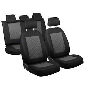 CAR SEAT COVERS FOR VOLKSWAGEN TIGUAN FULL SET BLACK GREY