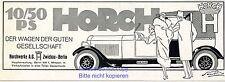 Horch 10 / 50 PS Reklame von 1925 Chauffeur Dame Pelz Zwickau Werbung