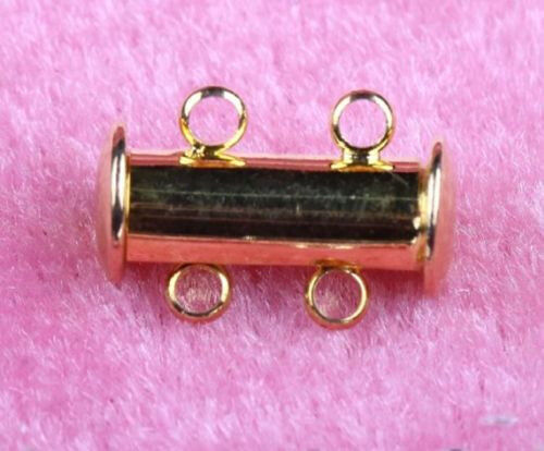 5//10Pcs Multi Strand Slide Magnetic Tube Clasps Hook Necklace Jewelry Findings