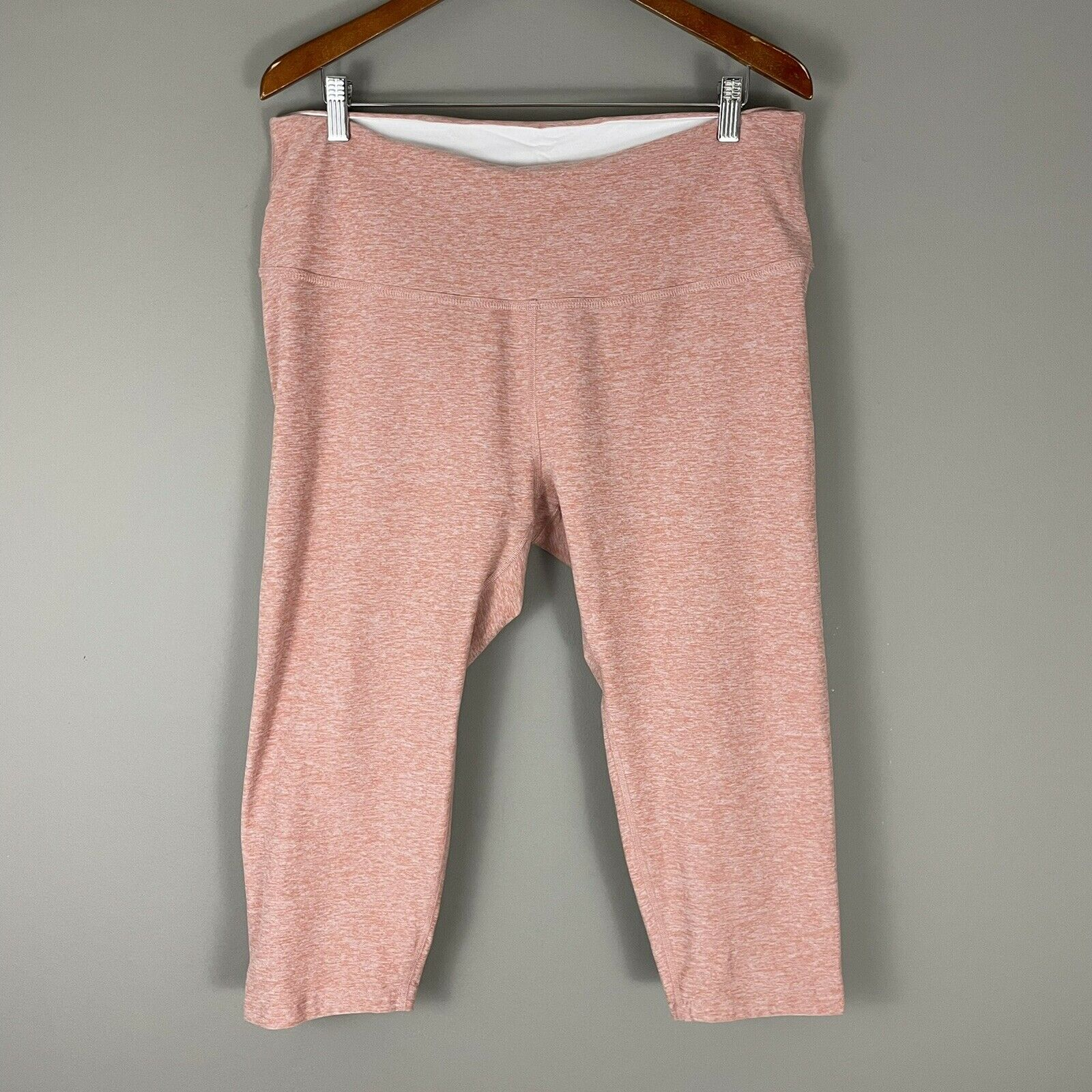 Beyond Yoga Peach Heather Leggings Plus Size 3X Crops Buttery Soft Pull On