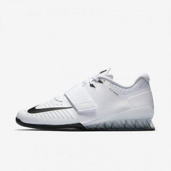 Nike Romaleos 3 White Black Weightlifting Shoes 852933-100 Comfortable Cheap women's shoes women's shoes