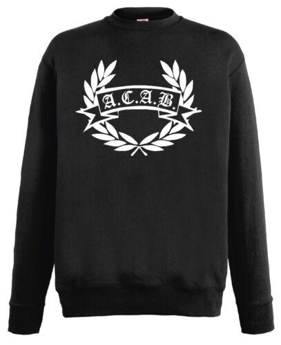 world-of-shirt Herren Sweatshirt AC.AB Hooligan Lorberkranz