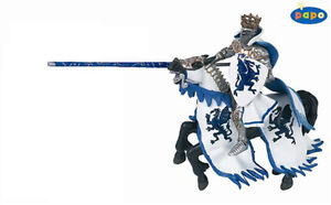 NEW-PAPO-39389-Blue-Dragon-Knight-King-39387-Rearing-Horse-Model-Figurines