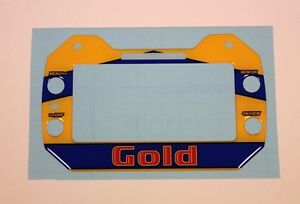 GOLD KART STYLE GEL STICKER FOR MYCHRON 5 - KARTING